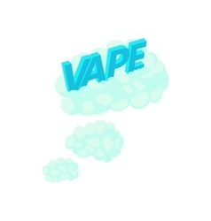 Vape clouds icon in cartoon style vector image