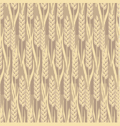 wheat golden grain seamless pattern vector image
