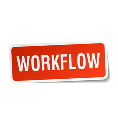 Workflow square sticker on white vector