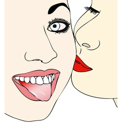 Affection friendship and transgression vector image vector image