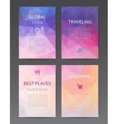 Brochure design templates vector image vector image