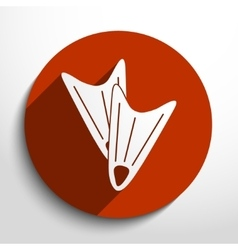 diving flippers web flat icon vector image