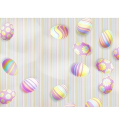 Easter eggs painted EPS 10 vector image