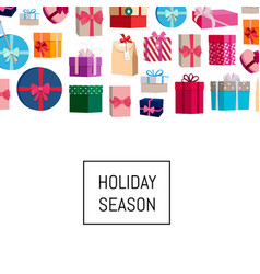 gift boxes or packages background vector image vector image