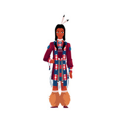 native american indian man in traditional national vector image vector image