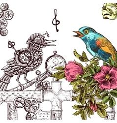 Sketch of bird vector