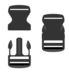 Backpack buckle vector image vector image