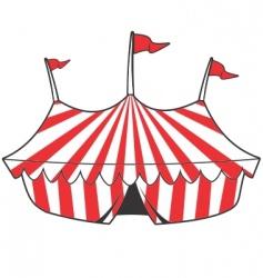 cartoon tent vector image vector image