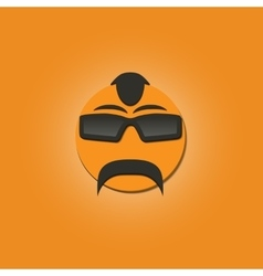 Funny face with a mustache vector