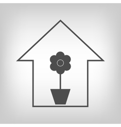 House with plant vector image vector image