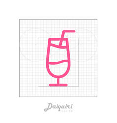 icon of cocktail with modular grid daiquiri vector image
