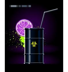 toxic barrel vector image