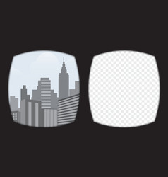 Virtual reality glasses overlay on the transparent vector image