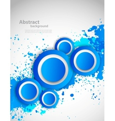 Abstract grunge background with blue color vector image vector image