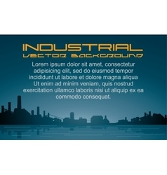 Industrial Background Cityscape vector image vector image