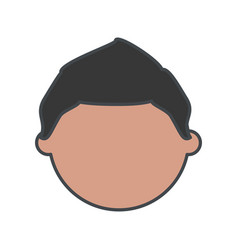 kid faceless cartoon vector image