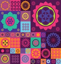 magic violet lotos design vector image