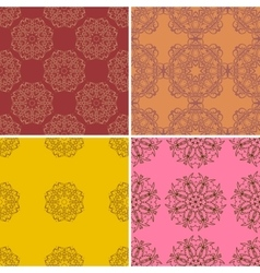 Set of four ornamental seamless pattern vector image