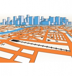 skyline map vector image vector image