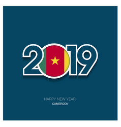 2019 cameroon typography happy new year background vector