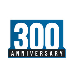 300th anniversary icon birthday logo vector image