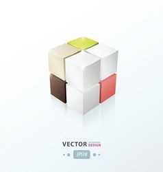 3D Cube for your design vector
