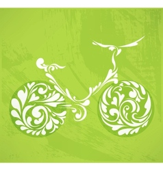 Abstract floral bicycle vector