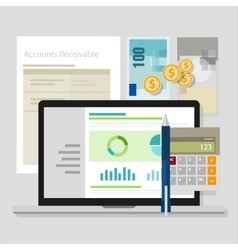 account receivable accounting software money vector image