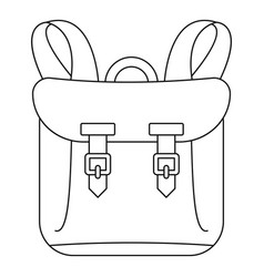 Adventure backpack icon outline style vector