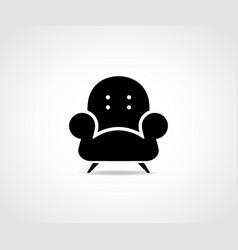 armchair sofa logo vector image
