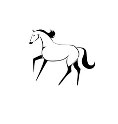 artistic drawing of a horse vector image