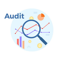 audit analysis flat concept vector image