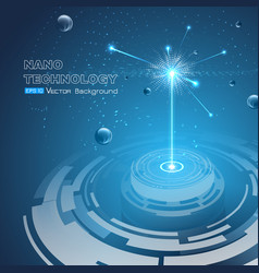 Background nanotechnology theme vector