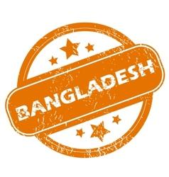 Bangladesh grunge icon vector image
