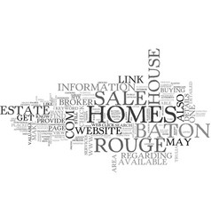 Baton rouge homes for sale text word cloud concept vector