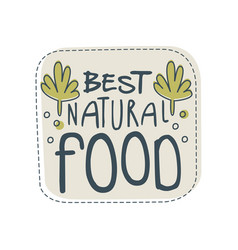 Beast natural food logo template label for vector