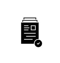 Black document symbol like good review vector