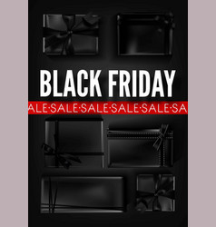 Black friday sale poster template for discount vector