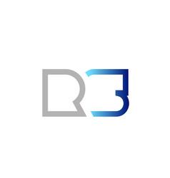 blue grey alphabet letter logo combination design vector image