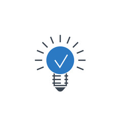 bulb flat related glyph icon vector image