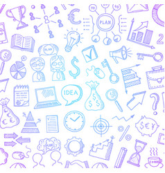 business doodle icons background with place vector image