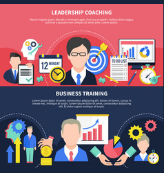 business training banners set vector image