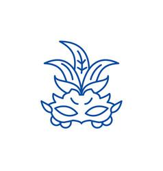 carnival mask line icon concept carnival mask vector image