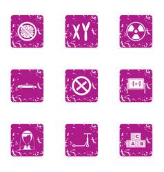 change life icons set grunge style vector image