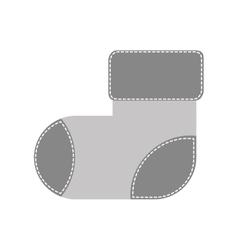 Child sock icon image vector