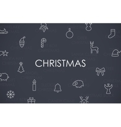 Christmas Thin Line Icons vector image