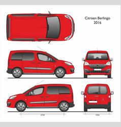 Citroen berlingo l1 2016 passenger van vector