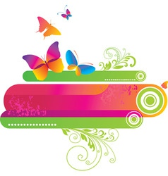 Colorful background with butte vector