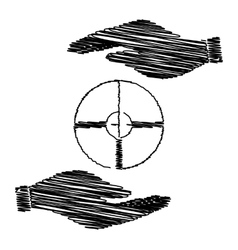 Crosshair Target sign vector image vector image