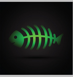 dead fish skeleton vector image